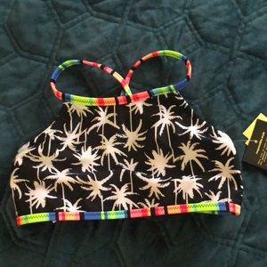 Size Small 6/6X reversible swimsuit top. NWT